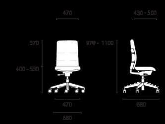 lento-agilis-matrix-mt11-ergonomischer-drehstuhl-mittelhoch-mit-aufsatz