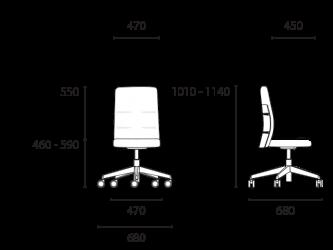 lento-agilis-matrix-mt61-ergonomischer-drehstuhl-mittelhoch-mit-aufsatz