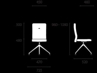 lento-laboro-la62-ergonomischer-drehstuhl-mittelhoch